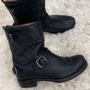 Frye Veronica back zip short boots